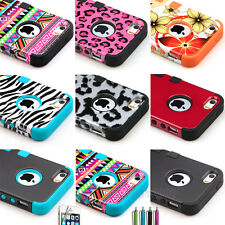 New Hybrid Shockproof Dirt Dust Proof PC Hard Cover Case For iPhone 5 5G 5S +Pen