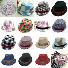 Vogue Chic Jazz Toddler Kids Baby Unisex Cap Cool Photography Fedora Hat Top