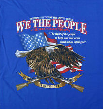 We the People 2nd Amendment American Flag and Bald Eagle t shirt