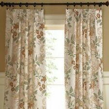 JCP DEANNA  FLORAL PRINT THERMAL Pinch Pleated Drapery Pair Curtains