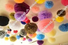 "6"" 8"" 10"" 15"" Tissue Paper Pom Poms Flower Balls FREE SHIP ON EACH ADDITIONALS"