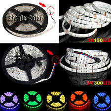 5050 RGB LED Strip 5M 150/300 LEDS SMD Flex Light Tube Waterproof/Non-Waterproof