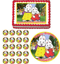 MAX AND RUBY Edible Cake Topper Cupcake Image  Decoration Birthday Party