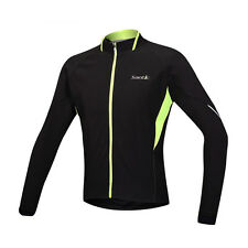 Men's Winter Windproof Cycling Jacket Bike Bicycle Fleece Thermal Jersey M-3XL