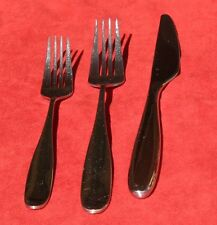 Gs gourmet settings handmade treble 4 spoons 18 10 stainless steel flatware ebay - Handmade gs silverware ...