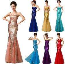1 Sequin Evening Exhibition Showgirl  Wedding Stage Cocktail Prom  Formal Dress