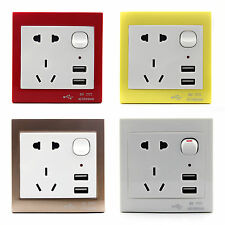 Wholesale Home Wall Power Supply USB Socket Switch with USB Port Interface