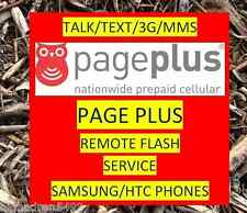 SPRINT HTC ONE M7 M8 REMOTE FLASH TO PAGEPLUS PAGE PLUS FULL 3G DATA