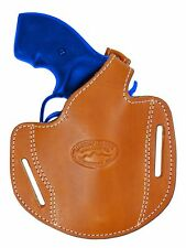 "New Barsony Saddle Tan Leather Pancake Gun Holster for Ruger Rossi 2"" Revolvers"