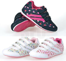 GIRLS KIDS SPORTS TRAINERS VELCRO TRAINERS INFANT SCHOOL SHOES SIZE 6 - 12