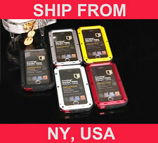 Hybrid Aluminum Gorilla Glass for iPhone 5S/5 Water Resistant Extreme Metal Case