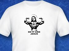 Do it like Jesus Religion Bible verse weightlifting Jesus digital print tshirt