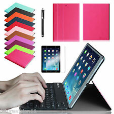 For Apple iPad mini 2 with Retina Display Leather Case Cover Bluetooth Keyboard