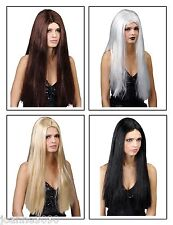 "LADIES CLASSIC LONG STRAIGHT 24"" FANCY DRESS WIG HALLOWEEN COSTUME PARTY HAIR"