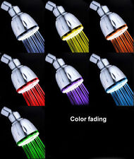 7 Colors Changing/Fading/Temperature Sensor 3 Colors LED Shower Head Water Glow