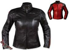 Ladies Leather Jacket Motorcycle Apparel CE Armored Thermal Liner All sizes