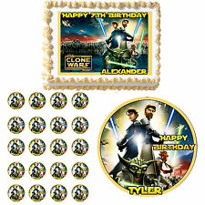 STAR WARS CLONE  Edible Birthday Party Cake Topper Cupcake Image Decoration