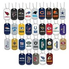 NFL Dog Tag Necklace Earrings Ravens Browns Colts Texans Titans Jaguars Raiders