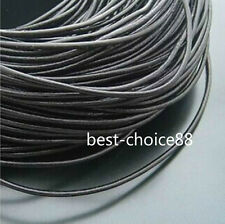 100% Real Fashion Black Leather Thread Cord For Necklace Bracelet 2/2.5/3mm Free