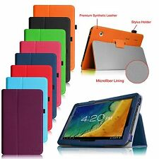 "10.1"" Android Tablet Alldaymall A20, iRulu, Amar, TouchTab PU Leather Cover Case"