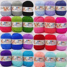 Wholesale Lot Soft Natural Bamboo Cotton Knitting Yarn Fingering 16 Color