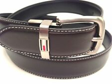 Tommy Hilfiger Men's Belt Reversible Leather Silver Buckle 30 32 34 36 38 40 42