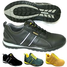 NEW MENS LADIES LEATHER WORK SAFETY STEEL TOE CAP WORK BOOTS SHOES TRAINERS SIZE