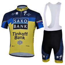 Saxo-Tinkoff Cycling Jersey with Bib Shorts suit (1)