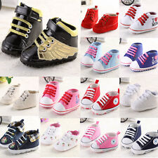 Newborn unisex Infant Toddler Sole Crib Sport Baby shoes 3 size to 18 Months