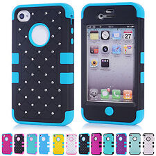 ❤ CHEAP❤ NEW  Multi Colors Shockproof Back Case Cover Skin For Apple iPhone 4/4S