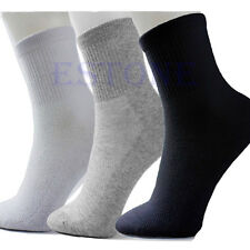 10 Pairs Lot Man Cosy Cotton Sport Socks For Football Basketball 6 Colors