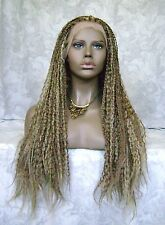 "5"" Lace Front Long Top  Braided Black,Brown High Heat Synthetic Wigs - WM2"