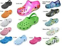 WOMENS TIE DYE WATER GARDEN CLOG SHOES ASSORTED LIGHT COLORS 5 6 7 8 9 10 11
