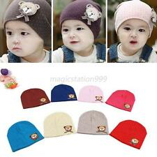 Toddlers Infant Boys Girl Baby Cute Hat Bear Dots Cotton Decro Cap 0-8M