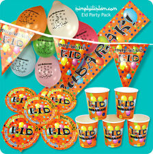 Eid Party Pack, Plates, Cups,Decorations,Banners,Balloons,Bunting Ramadan kids
