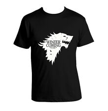 Game of Thrones T-shirt Winter is Coming HOUSE STARK Black T Shirt All Sizes