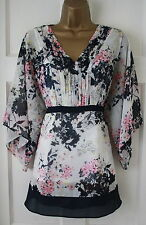 £39 M&S Per Una Navy Blue Cream Blouse Top Tunic 10 12 14 16 18 Marks & Spencer