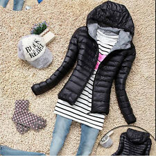 Fashion Womens Winter Warm Hooded Candy Slim Down Coat Jacket Overcoat Parka