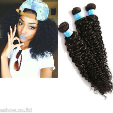 """10""""-30"""" 100% Virgin Peruvian Curly Human Hair Extension Unprocessed 100/pc 6A"""