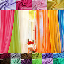 22 Candy Color sheer voile panel drape curtain window treatment scarf valance