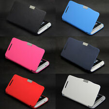Deluxe Magnetic Pu Leather Flip Folio Skin Hard Case Cover For HTC ONE M7
