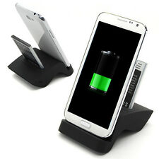 Sync Dual Battery Dock Charger Cradle Holder For Samsung Galaxy Note 2 II N7100