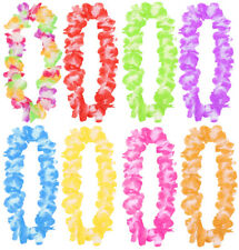 HAWAIIAN LEI GARLAND FLOWER NECKLACE LADIES MENS TROPICAL FANCY DRESS PARTY