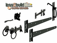 "2x Tee Hinges,Shed Door Gate Latches ,4""-6""-8""-10""-12""Black you pick !!"