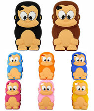 New 3D Cartoon Animal Cute Monkey Soft Silicon Case Cover For iPhone 5 5C 5S 5G