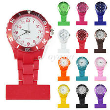 23 Candy Colors Fashion Nurse Pocket Fob Watches Rubberized Plastic