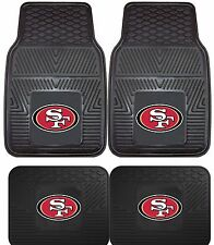 San Francisco 49ers NFL Floor Mats 2 & 4 pc Sets for Cars Trucks & SUV's