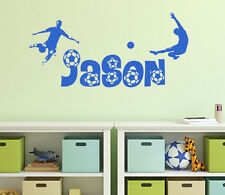 Personalised Name boys soccer football Bedroom Wall Vinyl Decal Sticker