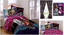 KIDS GIRLS MONSTER HIGH BEDDING BED IN A BAG / COMFORTER SET - 3 PRINTS