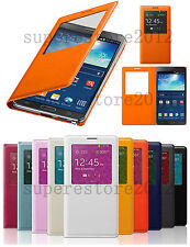 Big S-View Synthetic Leather Smart Case Cover Skin for Samsung Galaxy S5 Note3